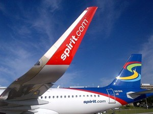 Spirit Airlines Airbus A320 with Sharklets