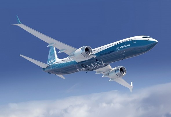 Boeing 737 MAX with updated winglets